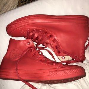 rain boot all red converse